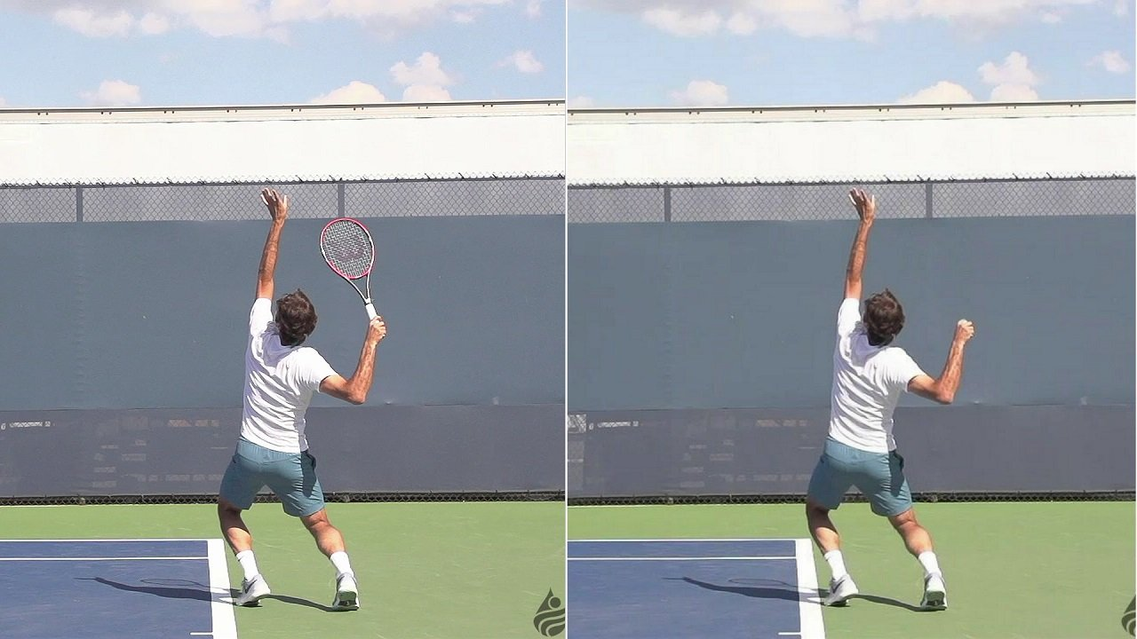 Roger Federer Serve With No Racquet   Feel Tennis